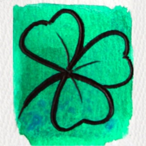 Painting of a clover, Ireland's national flower